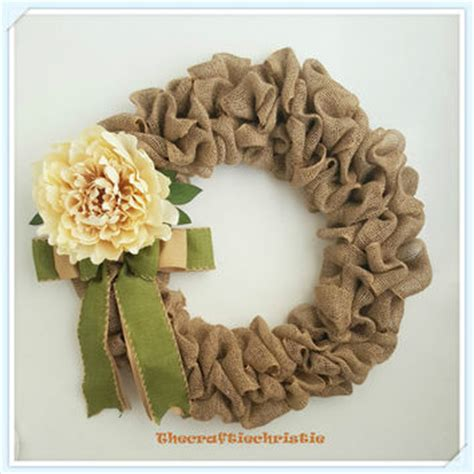elegant burlap and snowflake wreath fynes designs best silk and burlap products on wanelo