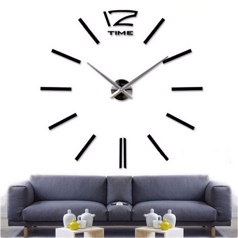 decoration modern wall clock art home decor large diy 3d aliexpress com buy 2016new home decor big wall clock
