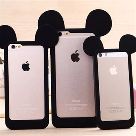 Ear Micky Softcase For Iphone 4 4s 5 5s 5e Samsung Note 3 mickey mouse ear bumper soft silicon phone for iphone 4 4s 5 5s 6 6plus