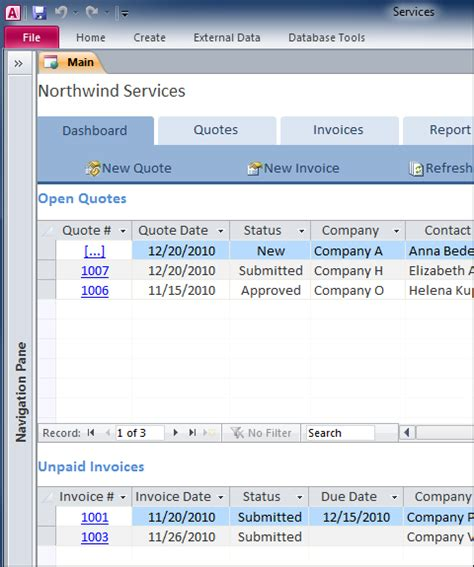access 2013 templates free create maintain comprehensive business services database