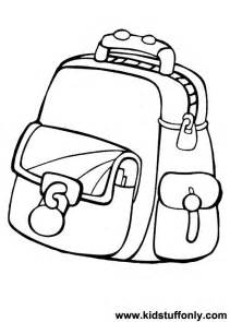 coloring stuff coloring pages school bag coloring pages kid stuff only