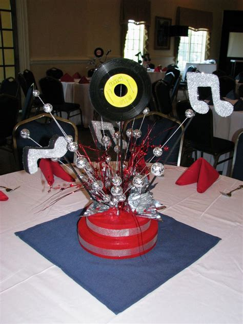 rock n roll centerpiece by the party girl events