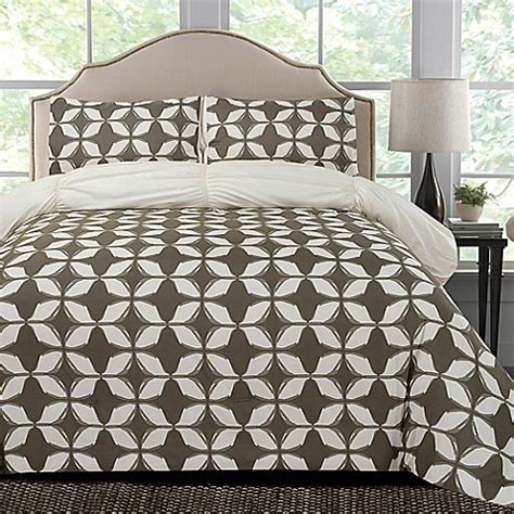 gray microfiber comforter thro taylor microfiber reversible comforter set in grey