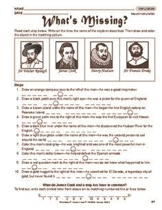 Explorers Worksheets by 1000 Images About Explorers Unit On Early