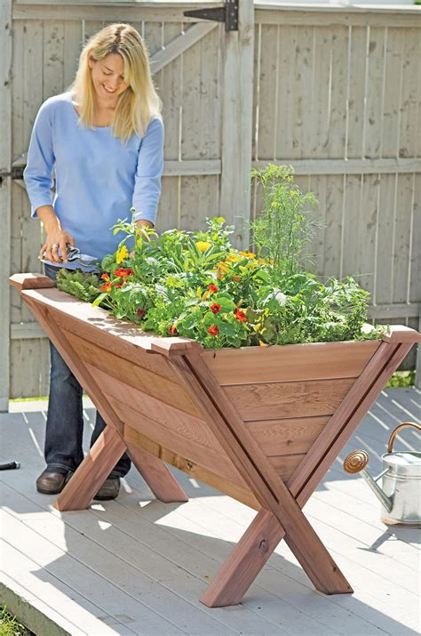 Garden Wedge   Elevated Bed for Apartment Gardening   Made