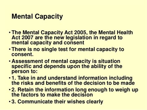 section 5 2 mental health act lecture 7 consent and capacity child protection