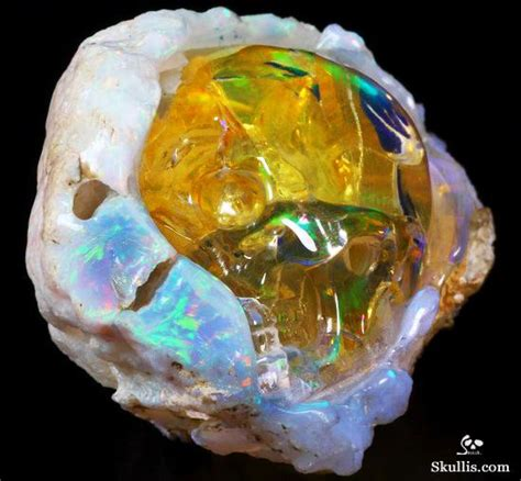 Opal Africa amazing flash gemstone 2 1 quot opal carved