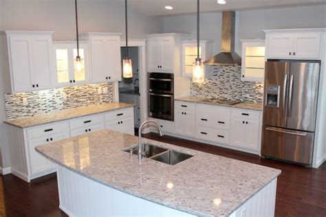Cost To Tile A Kitchen Floor - moon white granite kitchen countertop design ideas