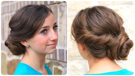 easy girls hairdo easy twist updo prom hairstyles cute girls hairstyles
