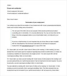 Employee Contract Template Uk by Contract Termination Letter Template 17 Free Sle