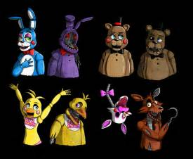 Related image with nights at freddys name all five characters