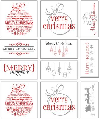 best free printable christmas gift tags 8 best images of classy christmas printable round labels