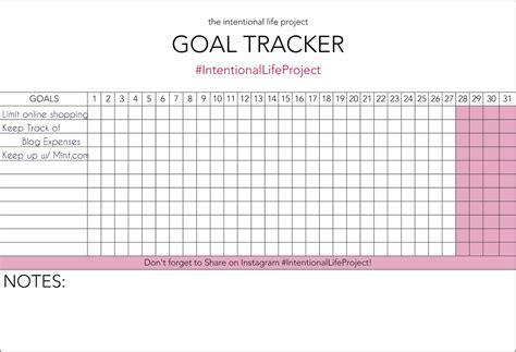 goal tracker template iep calendar planning template calendar template 2016