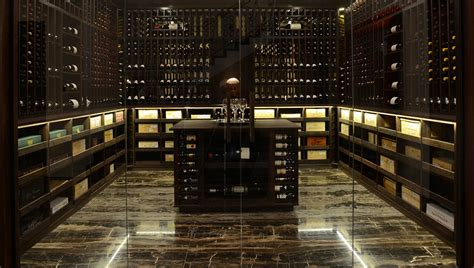 weinkeller design wine cellar made with wenge and acrylic