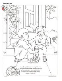 coloring page jesus lds 1000 images about lesson helps on the