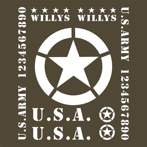 jeep army decals jeep willy ww2 decal car kit military restoration usa army