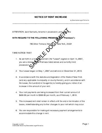 ontario notice of rent increase form n1 ez landlord forms