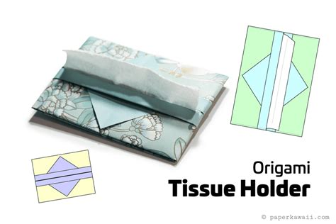 Origami Paper Holder - easy origami tissue holder