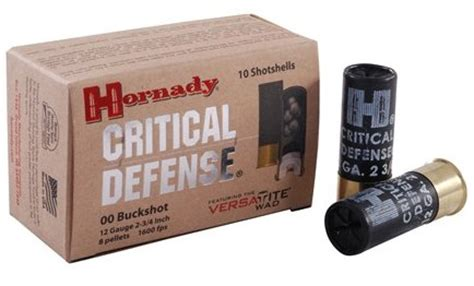 hornady critical defense shotgun ammo us shooter