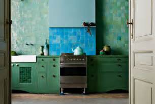 Green And Blue Kitchen Kitchen Week Colorful Kitchens Nbaynadamas Furniture