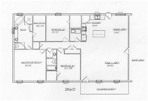 metal shop homes floor plans barndominium and metal building plans floor plans