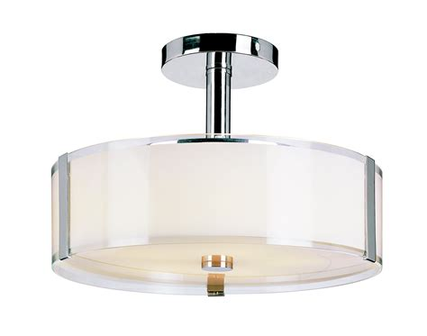 Trans Globe 2091 Pc Opal Chrome Semi Flush Mount Ceiling Ceiling Semi Flush Mount Light Fixtures