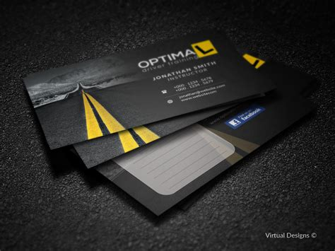 School Driver Business Card Template by Modern Professional Business Card Design By