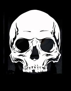 Felgen Lackieren Schablone by High Detail Airbrush Stencil Half Skull Free Uk Postage Ebay