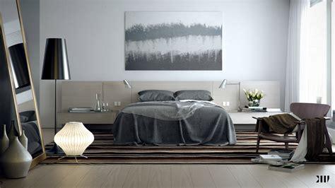 grey brown white bedroom scheme interior design ideas