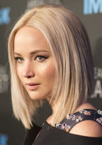 blonde bob centre parting 15 new jennifer lawrence hairstyles hot 2017 bob haircuts