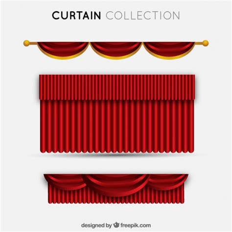 rode gordijnen gratis set van elegante rode theater gordijnen vector gratis