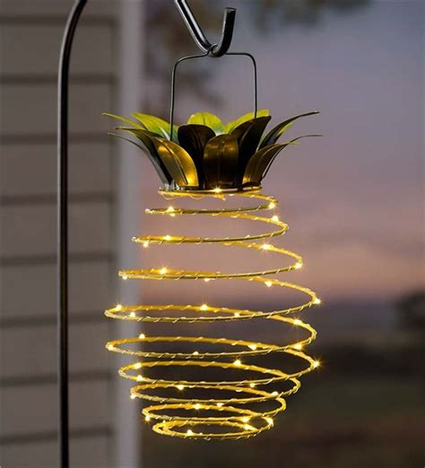 hanging solar lantern decoration pineapple bohemian