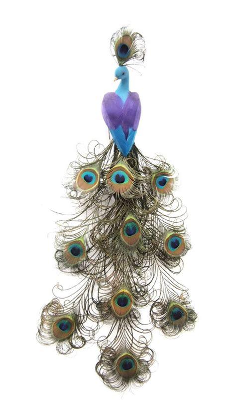 feather peacock bird purpleturquoise handmade ebay