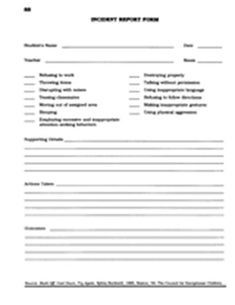 school incident report template word incident report form printable teaching tool pre k