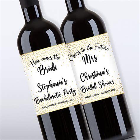 free printable bridal shower wine labels bridal shower wine bottle labels customized bachelorette