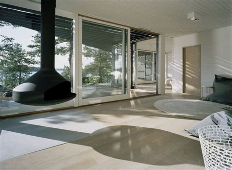 view interior of homes modern house in elegant three angle prism structure