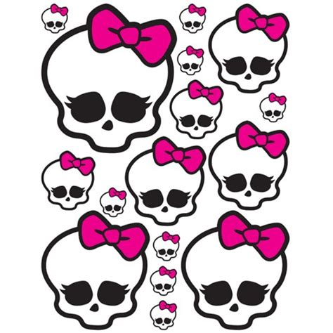 6 best images of monster high skull printable pattern
