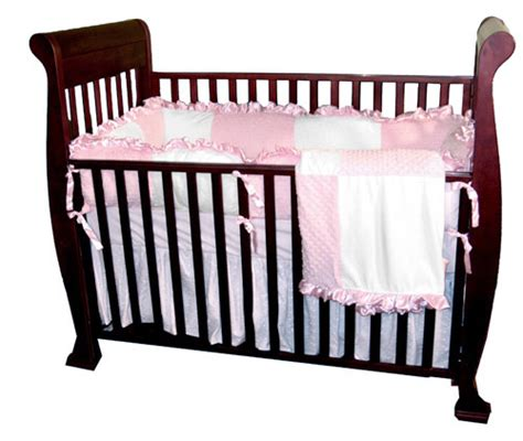 minky dot crib bedding minky dots pink four crib set