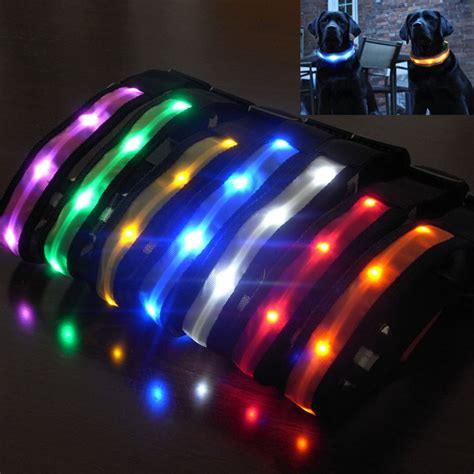 light up collar led pet collar safety led light up glow in the electric