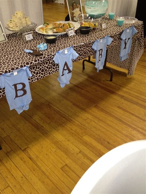 Dollar Tree Baby Shower Decorations by Onesies From Dollar Tree And Acrylic Paint And Cheap