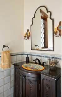 Cottage Style Bathroom Vanity by Awesome Spanish Tile Bathroom Bathroom Mediterranean With