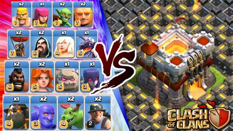 clash of clan troop photo clash of clans all troops vs town hall 11 insane 3