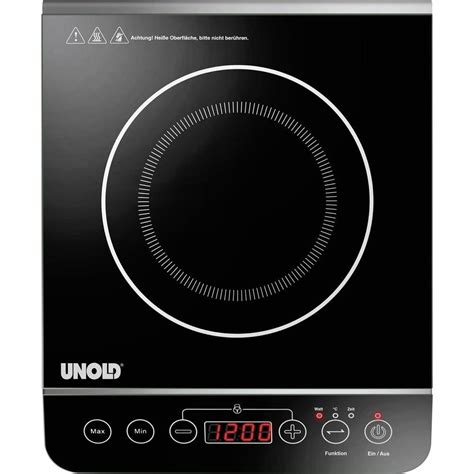 induction hob temperature induction hob with pot size recognition temperature pre set timer fuction unold from conrad