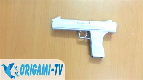 How To Make A Paper Tv - how to make a paper gun that shoots pistol easy part 1
