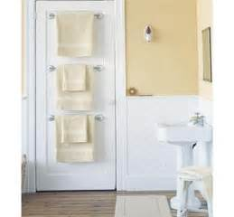 bath towel holder ideas 27 towel holders on bathroom door via marthastewart