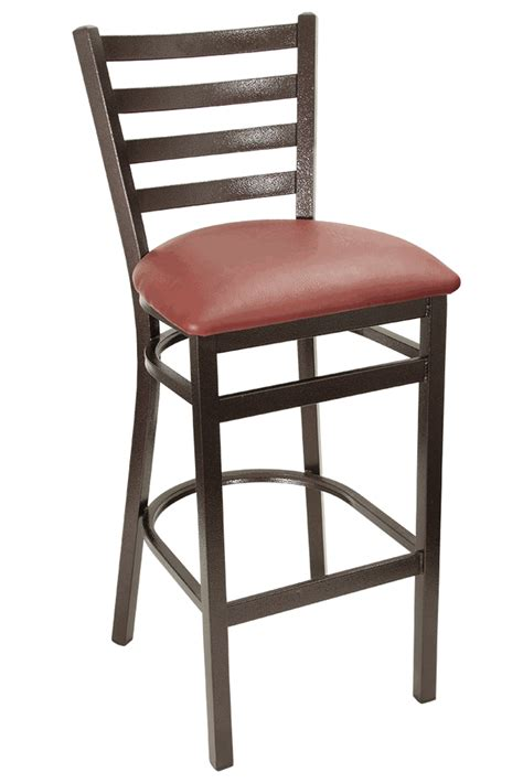 Vinyl Bar Stools With Backs by Gladiator Copper Vein Ladder Back Metal Bar Stool With