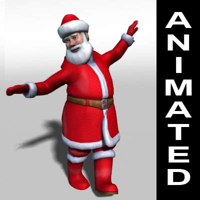 moving santa claus santa claus rigged animations 3d 3ds