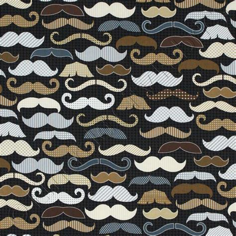 timeless upholstery timeless treasures menswear moustaches black fabric