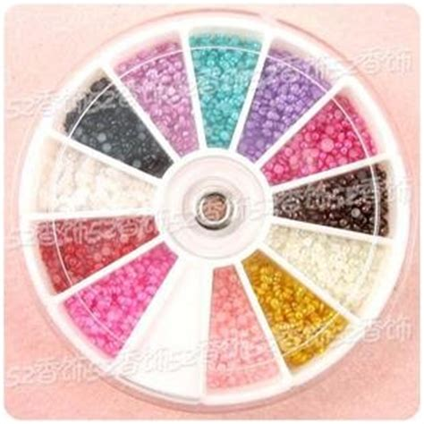 Black And White Pearl Nail Decoration Wheel 1680 x 2 0mm nail tip half baby pearl decoration