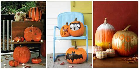 35 halloween pumpkin painting ideas no carve pumpkin